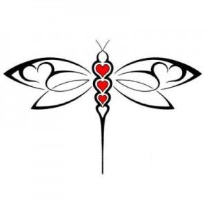 Tribal Dragonfly Tattoo Designs