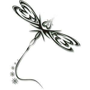 Tribal Dragonfly Tattoos