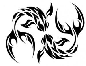 Tribal Pisces Tattoo Designs