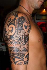 Aztec Tribal Half Sleeve Tattoos