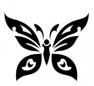 Butterfly Tribal Tattoo Designs