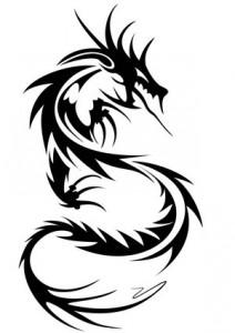 Chinese Tribal Dragon Tattoo