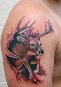 Deer Tribal Tattoos Designs