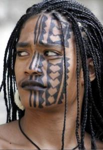 Face Tattoo Tribal