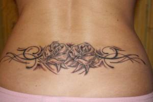 Female Lower Back Tribal Tattoos