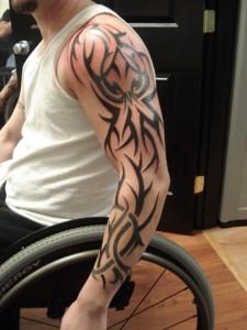 Full Sleeve Tribal Tattoo