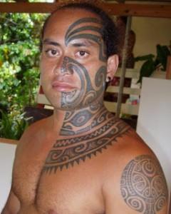 Hawaiian Tribal Face Tattoos