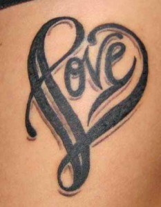 Heart with Tribal Tattoos