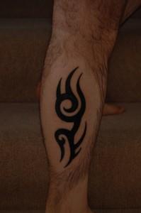 Leg Tattoo Tribal