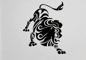 Leo Tribal Tattoo Designs
