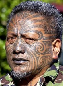 New Zealand Tribal Face Tattoos