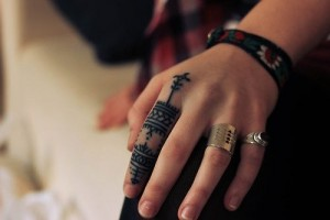 Pictures of Tribal Finger Tattoos