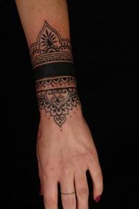 Polynesian Tribal Wrist Tattoos