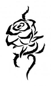 Rose Tattoo Tribal