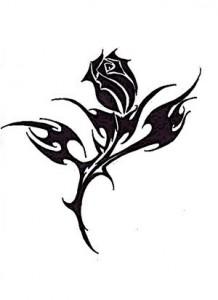 Rose Tribal Tattoo Designs