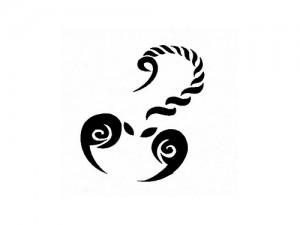 Simple Scorpion Tattoo