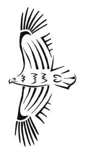 Simple Tribal Eagle Tattoo