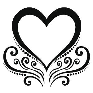 Simple Tribal Heart Tattoos