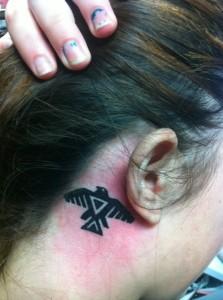 Small Tribal Bird Tattoo