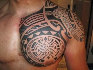 Taino Tribal Chest Tattoos