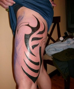 Thigh Tribal Tattoo Designs