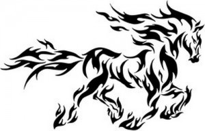 Tribal Animal Tattoo