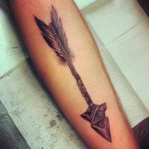 Tribal Arrow Tattoo