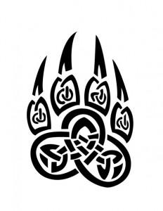 Tribal Bear Paw Tattoo