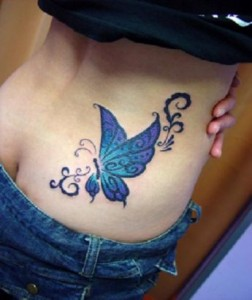 Tribal Butterfly Tattoo Hip