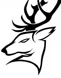 Tribal Deer Head Tattoo Designs