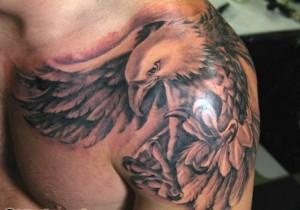 Tribal Eagle Tattoo Shoulder