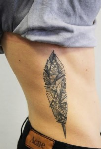 Tribal Feather Tattoo for Men