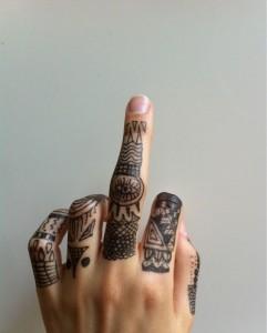 Tribal Finger Tattoos