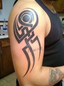 Tribal Forearm Tattoos for Guys