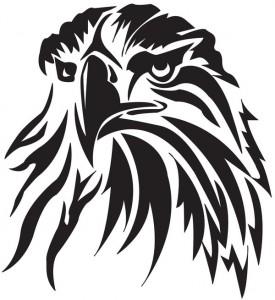 Tribal Hawk Head Tattoo