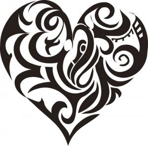 Tribal Heart Tattoo Designs