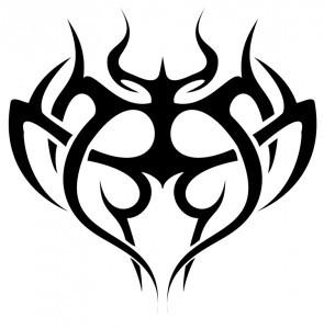 Tribal Heart Tattoo Designs for Men