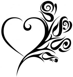 Tribal Heart Tattoos for Women