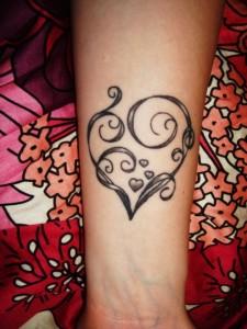 Tribal Heart Wrist Tattoos
