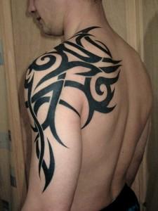 Tribal Henna Tattoo Shoulder