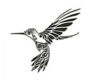 Tribal Hummingbird Tattoo