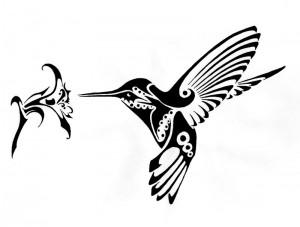 Tribal Hummingbird Tattoo Designs
