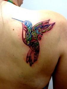 Tribal Hummingbird Tattoo Pictures