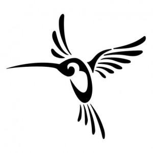 Tribal Hummingbird Tattoo for Men