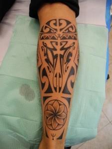 Tribal Leg Tattoo