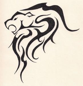Tribal Leo Sign Tattoos
