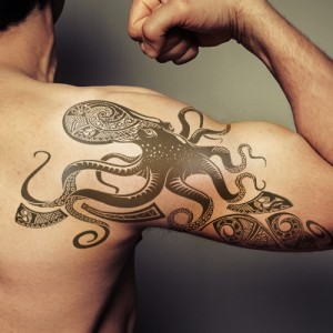 Tribal Octopus Tattoo Pictures