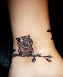 Tribal Owl Tattoo Designs for Girls