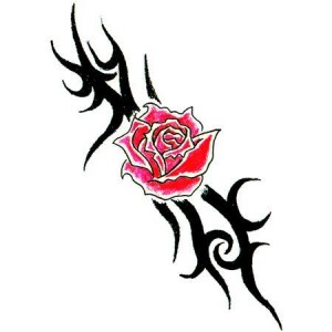 Tribal Rose Tattoo Designs