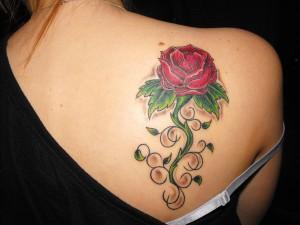 Tribal Rose Tattoo for Women
